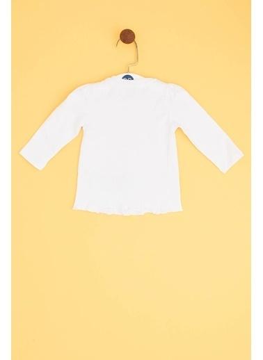 BG Baby Kız Bebek Beyaz T-Shirt Beyaz